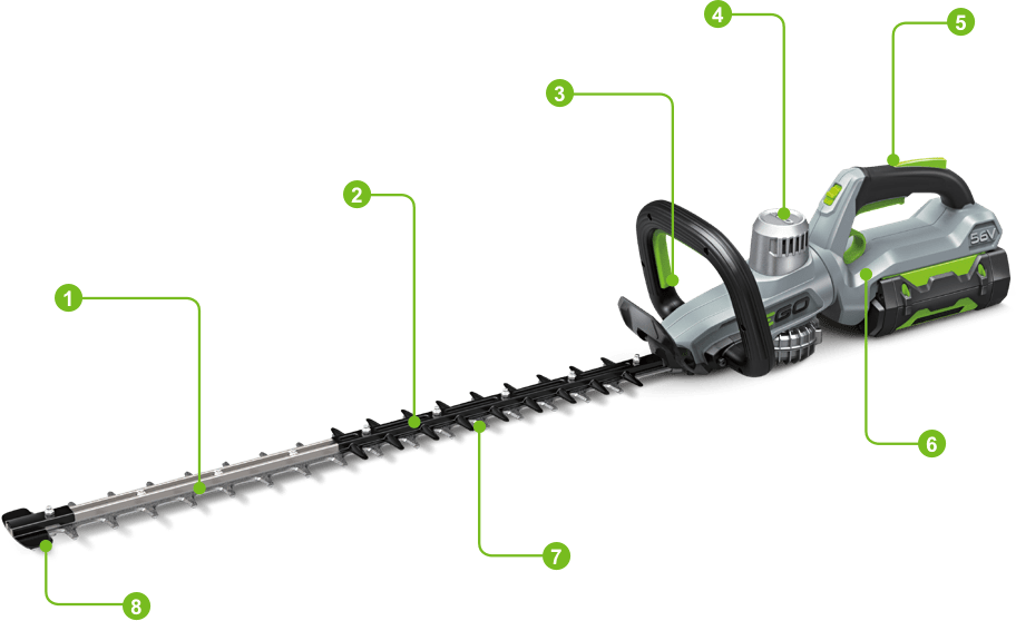 Hedge Trimmer Key Features Image